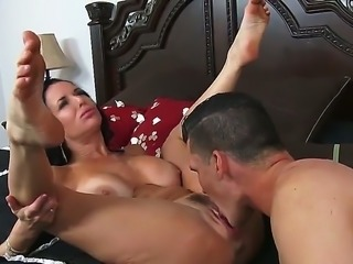 Big breasted beautiful MILF Veronica Avluv spreads her sexy legs invitingly...