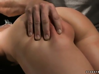 Blonde Kathia Nobili is good on her way to make hard cocked guy bust a nut in...