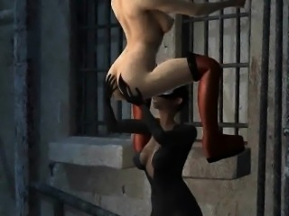 3D lesbian Harely Quinn getting her pussy licked