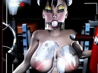 Busty 3D animation hot ass fucking by robot