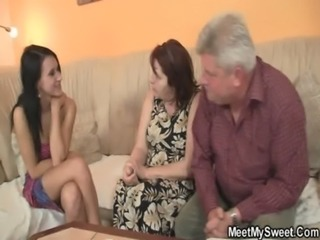 He finds his GF fucking his family free