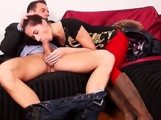 Aruna Aghora is a skinny brunette, Euro babe and shes going to give him a...