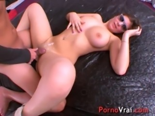 Teen first porno with a stranger!! French amateur free
