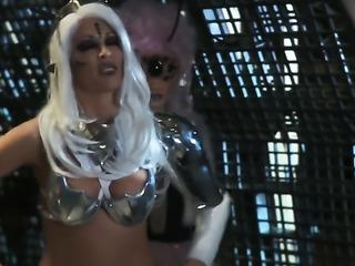 Group sex at a parody scene