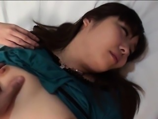 Big milk sacks japanese darling shows off her ultra butt