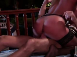 Busty blonde is getting her pussy licked
