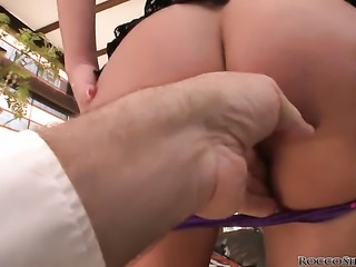 Rocco Siffredi uses his rock solid love torpedo to make blowjob addict Cathy...