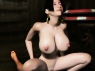 Horny 3D hentai babe gets pussy jizzed