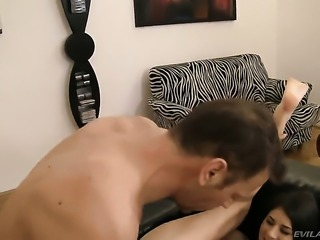 Abby A gets skull fucked outrageously by Rocco Siffredi after anal hole fucking