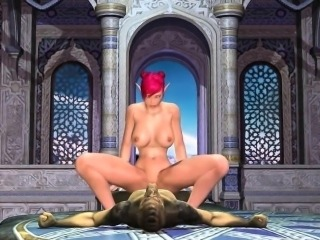Busty 3D Toon Elf Getting Fucked by a Reptile
