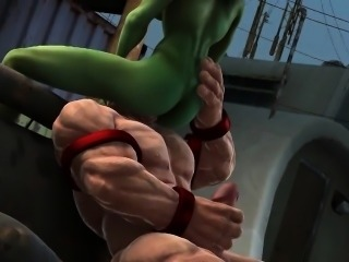 3D Toon Mutant Babe Gets Fucked Hard Outdoors