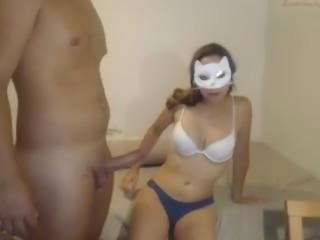 Hot Latin college fucking on webcam