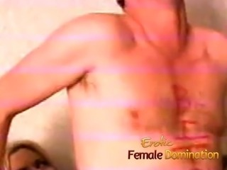 Room service delivery guy becomes an obedient slave in no