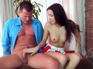 Cum-swallowing, Small-tits, Stepfather