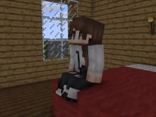 Minecraft girl gets fucked