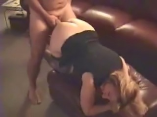 Blonde wife takes huge cock in her ass