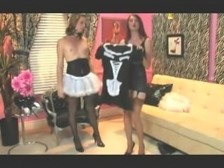 A Day of Life as Sissy Maid, Shemale Stockings