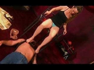 Trampling foot fetish femdom mistress