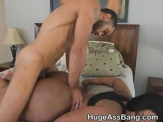 Black Chick With Giant Round Ass Getting Pounded Out