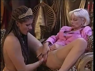 Rich lady takes it from her black servant