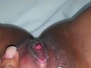black pussy white dildo