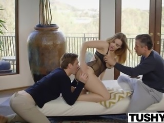 TUSHY Natasha Nice First Double Penetration
