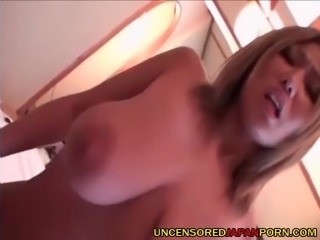Uncensored Japanese Porn Blonde busty asian riding cock