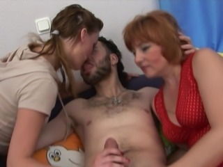 Stud with his girlfriend and NOT her mom -threesome