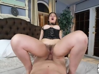 Brunette cutie Dani Daniels gets some good pussy pounding