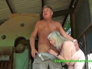 Granny fucked on the farm