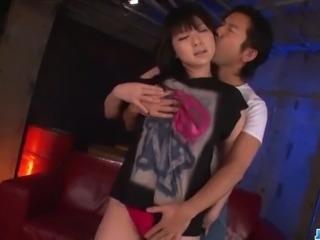 Megumi Haruka moans hard during nasty oral show