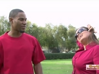 Hot momma fucks a random young black guy from the park
