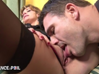 Driver comforts sexy french mature crying