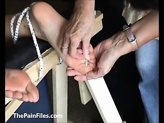 Extreme foot fetish and feet needle bdsm