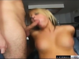 Two lustful studs giving Holly Wellin the heavy pounding she deserves