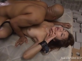 Sweet japanese gets a hardcore interracial Gangbang in prison