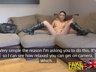 FakeAgentUK Agent gives petite web cam student a spunk shot