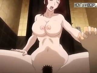 Redhead Anime Babe Gets Wet From Anal