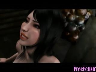 3D Monster Fucks Her Until She Turns Green - FreeFetishTVcom