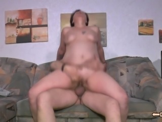HausfrauFicken - Chubby German granny gets fucked hardcore
