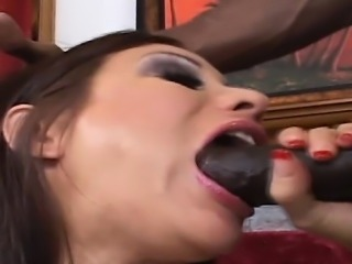 Ebony fellow with giant ding-dong fucks his girlfriend