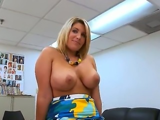 Sexy blonde Milf Charlees spreads her legs,rubs her cunt before getting her...