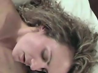 Milf first-ever cum swallow