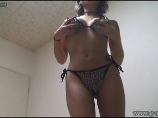 Japanese girl bikini on webcam