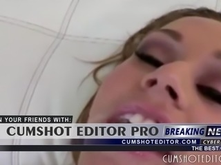 Gorgeous Blonde Babe Cumshot Compilation