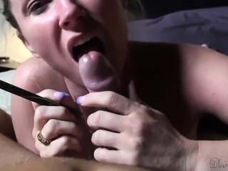 Attractive blonde milf reveals her impressive blowjob abilities in POV