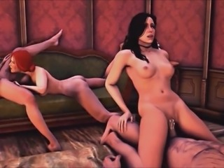 Witcher Orgy with Ciri, Triss and Yennefer