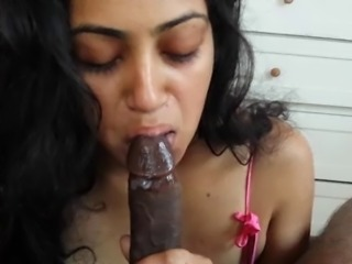 Indian babe cum in mouth
