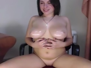 White Chick With Nice Oily Tits