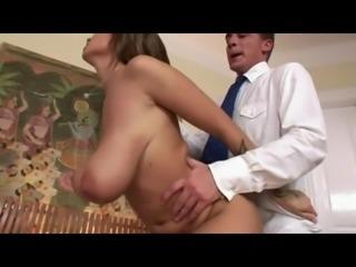 Hanging boobs, natural, areolas and big nipples